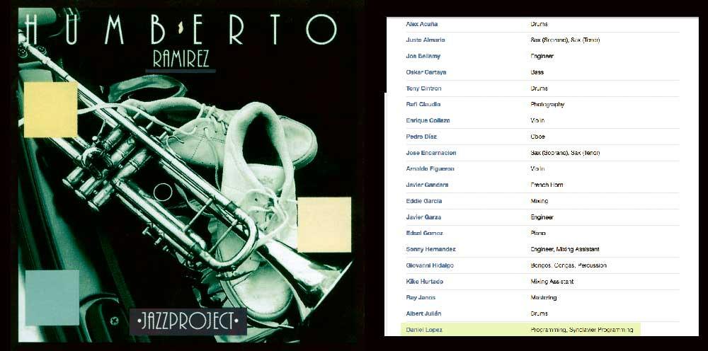 Mi primer trabajo en una producción completa fue con Alex Acuña, Justo Almario, Humberto Ramírez…